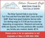 Restaurant Jobs Silver Summit Cafe