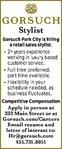 Employment | Retail