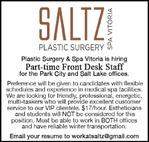 Front Desk Staff - Saltz Plastic Surgery